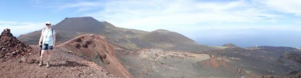 Panorama vanaf top Teneguia