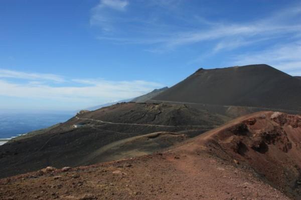 Uitzicht vanaf de top van Volcan de Teneguia