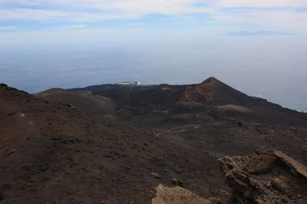 Volcan de Teneguia vanaf de top van Volcan de San Antonio