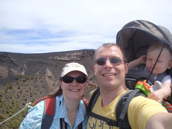 Vulkaan selfie