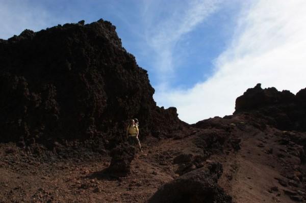 Steil omhoog op Volcan de Teneguia